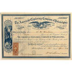 American Exploring Co. of Phila. Stock Certificate
