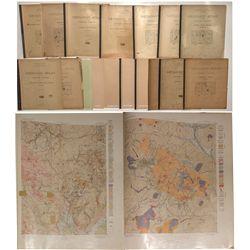 Colorado Geologic Atlas Set, 1894-1916