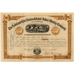 Rare Lowland Chief Consolidated Silver Mining Co. Stock Certificate