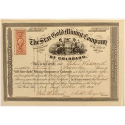 Star Gold Mining Co. Stock Certificate