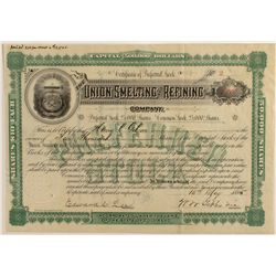 Union Smelting and Refining Co. Stock Certificate