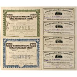 Bunker Hill & Sullivan Mining and Concentrating Co. Stock Certificates