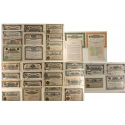 Large Collection of Mining Stock Certificates Issued at Wallace