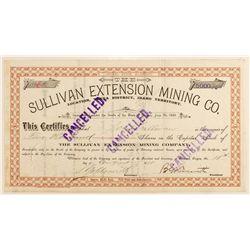 Sullivan Extension Mining Company, Idaho Territory