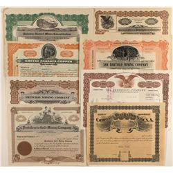 Eight Assorted Stocks from Mexico, Most Issued