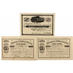 Massachusetts and New Mexico Cons. Mining Co. Stock Certificates