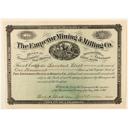 The Emperor Mining and Milling Co. Stock Certificate