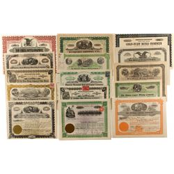 New Mexico Stock Collection- Group of 15 Stocks