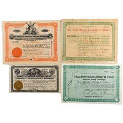 Wonder, Nevada Stock Certificate Group