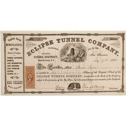 Eclipse Tunnel Co. Stock Cert.