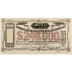 Phoenix Gold and Silver Mining Company Stock Certificate