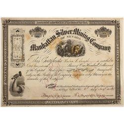 Manhattan Silver Mining Co. Stock Cert.