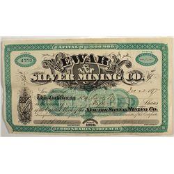 Newark Silver Mining Company Stock Certificate