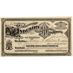 Industry Gold & Silver Mining Co. Stock Cert.