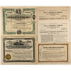 Montgomery and Shoshone Bullfrog Stock Certificate