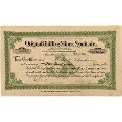 Original Bullfrog Mines Syndicate Stock Certificate