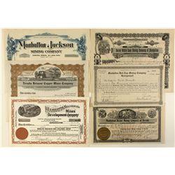 Later Manhattan Mining Stock Certificates