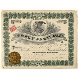 Manhattan Gold Mining Co. Stock Certificate