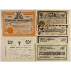 Manhattan Mining Stock Certificates Group