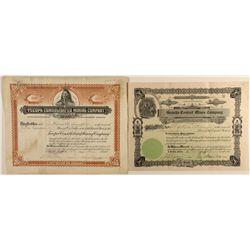 Rhyolite Area Stock Certificates Pair
