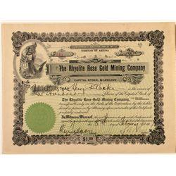 Rhyolite Rose Gold Mining Co. Certificate