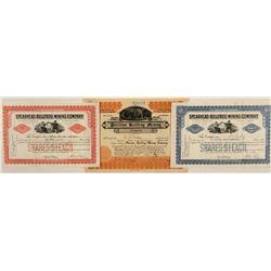 Three Rhyolite Stock Certificates, 1905-1906