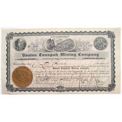 Boston Tonopah Mining Company with Nixon and Wingfield signatures
