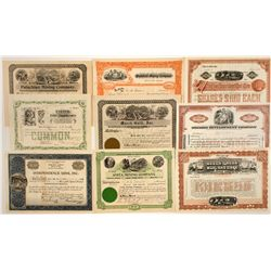 Group of East Coast Mining Stock Certificates