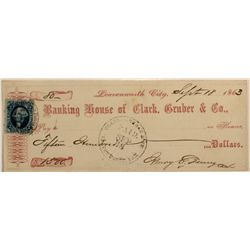 Clark, Gruber & Co. Famous Coin Firm Check