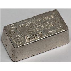 Franklin Bros., F.B. Silver Ingot