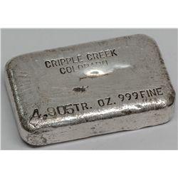 Cripple Creek Colorado Silver Ingot 2