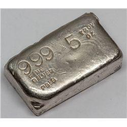 Prospector's Gold & Gems Silver Ingot