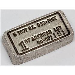 1st American Co-Op Silver Ingot