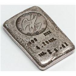 Nevada Silver Mining Co. Silver Ingot 1