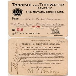 Tonopah and Tidewater Co. 1909 Pass