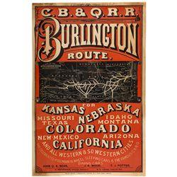 C.B. & Q.R.R Burlington Route Broadside