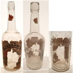 Rosedale Whiskey Bottle, Siebe Bros.