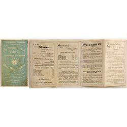 Coronado Mineral Water Company pamphlet