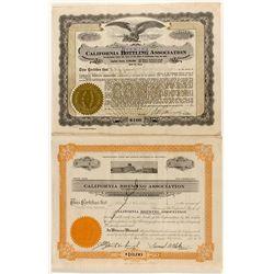 California Brewing Association Stock Certificates