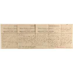 Three Medford Distilling and Refining Company memorandums