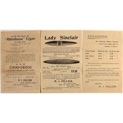 Cigar hand bills