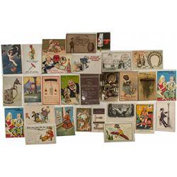 Corkscrew Tradecards, Postcards, Caracitures, and