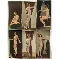 Large Colorized Nude Cards