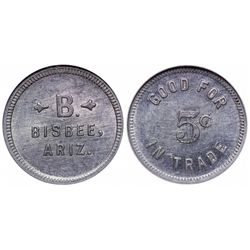 B, Bisbee, Arizona Token
