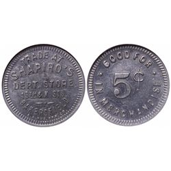 Shapiro's Department Store Token