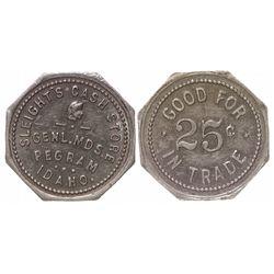 Sleight's Cash Store pictorial token