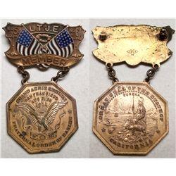 Eagles medals, et al, California Octagonal badge