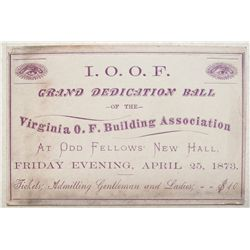 1873 Grand Dedication of the Oddfellows Building