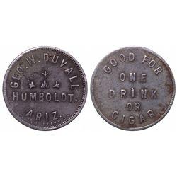 Humboldt, George Duvall Saloon Token