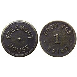 Previously Unknown Saloon token, Fremont House (#2), Fremont,